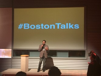 Haril speaking at WGBH's Boston Talks